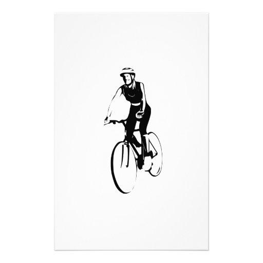 Montar a caballo de la bicicleta papelería de diseño