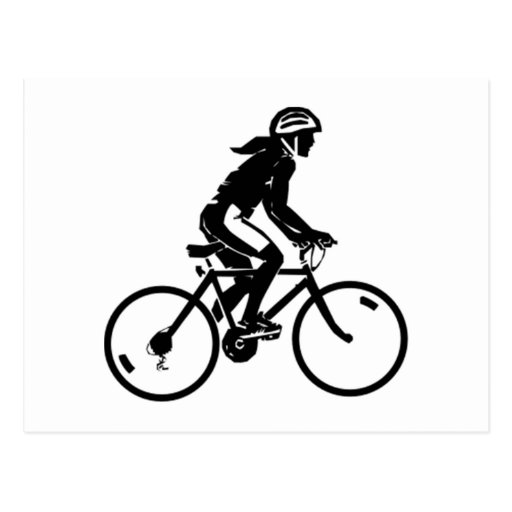 Montar a caballo de la bicicleta postal