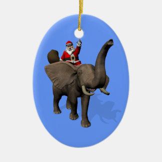 Montar a caballo de Papá Noel en elefante Ornamentos De Reyes Magos