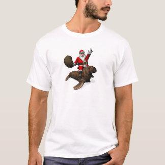 Montar a caballo de Papá Noel en morsa Playera