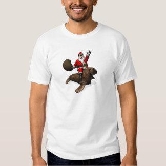 Montar a caballo de Papá Noel en morsa Remera