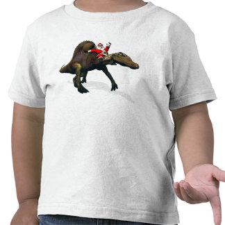 Montar a caballo de Papá Noel en Spinosaurus Camisetas