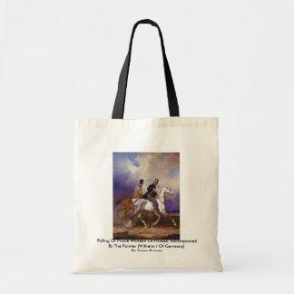 Montar a caballo de príncipe Wilhelm Of Prussia Bolsa Tela Barata