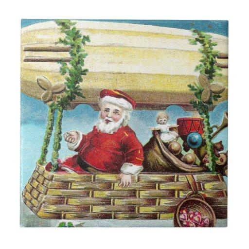 Montar a caballo de Santa en Navidad del vintage d Tejas