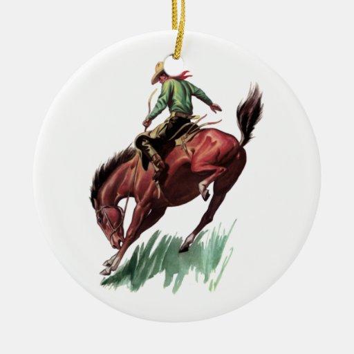 Montar a caballo del Bronc de la silla de montar Adorno De Reyes