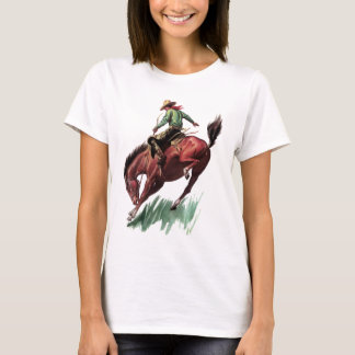 Montar a caballo del Bronc de la silla de montar Playera