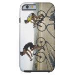Montar a caballo del camino de los ciclistas en funda para iPhone 6 tough