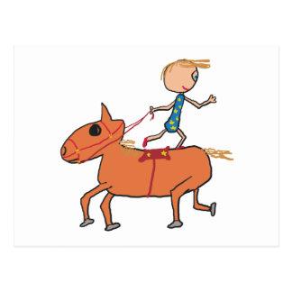 Montar a caballo del circo tarjeta postal