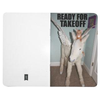 Montar a caballo del gato en un unicornio. MEJOR D Cuadernos Grapados