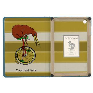 Montar a caballo del kiwi de Brown en un Unicycle