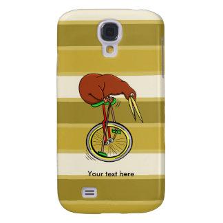 Montar a caballo del kiwi de Brown en un Unicycle Funda Para Galaxy S4