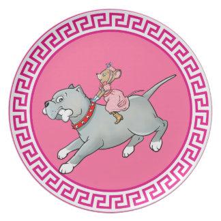 Montar a caballo del ratón en perro - modifique la platos