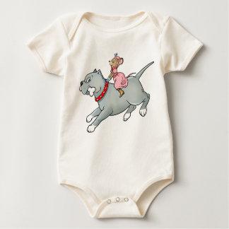 Montar a caballo del ratón en perro - modifique la trajes de bebé