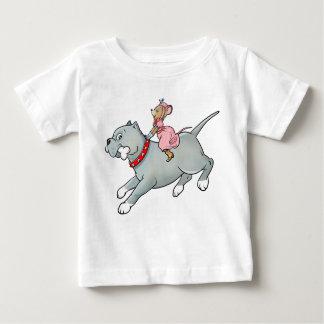Montar a caballo del ratón en perro - modifique la t-shirt