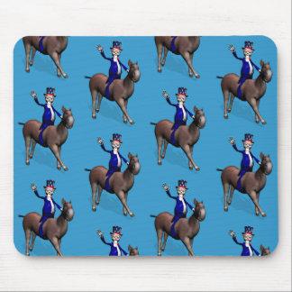 Montar a caballo del tío Sam en burro Mouse Pads