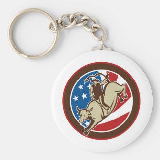 Montar a caballo del toro del vaquero del rodeo co llaveros personalizados