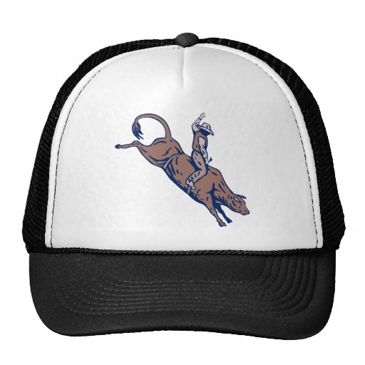 Montar a caballo del toro del vaquero del rodeo gorra