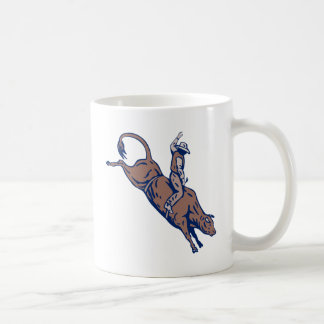 Montar a caballo del toro del vaquero del rodeo tazas