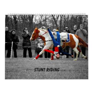 Montar a caballo del truco calendarios