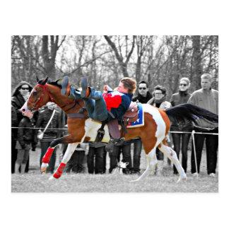 Montar a caballo del truco postales