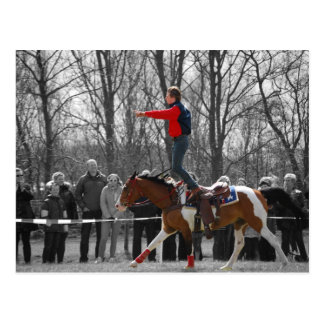Montar a caballo del truco tarjetas postales