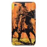 Montar a caballo del vaquero a caballo en desierto iPod touch Case-Mate protector
