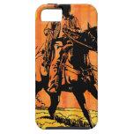 Montar a caballo del vaquero a caballo en desierto iPhone 5 Case-Mate fundas