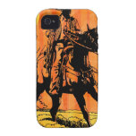 Montar a caballo del vaquero a caballo en desierto Case-Mate iPhone 4 fundas