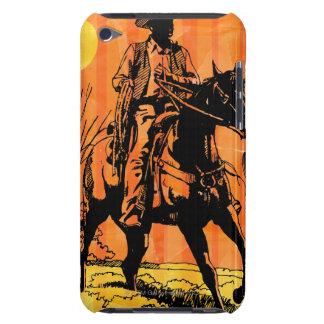 Montar a caballo del vaquero a caballo en desierto iPod touch Case-Mate funda