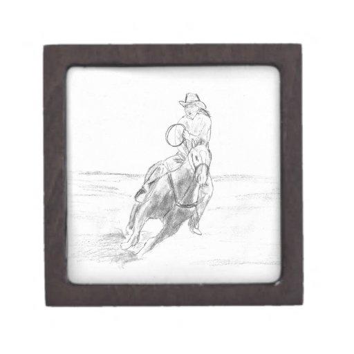 Montar a caballo del vaquero cajas de regalo de calidad