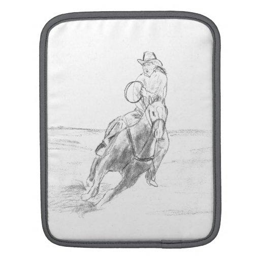 Montar a caballo del vaquero fundas para iPads