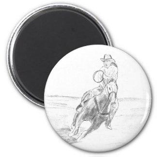 Montar a caballo del vaquero iman para frigorífico