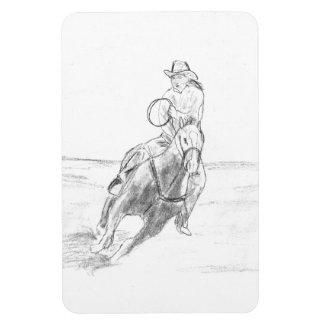 Montar a caballo del vaquero iman rectangular