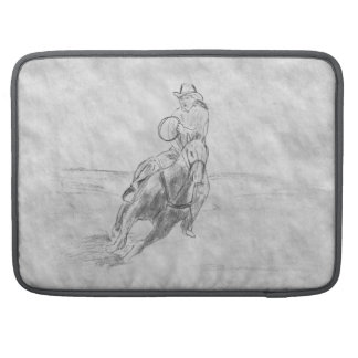 Montar a caballo del vaquero fundas para macbook pro