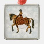 Montar a caballo - Dressage 03.jpg Adorno Navideño Cuadrado De Metal