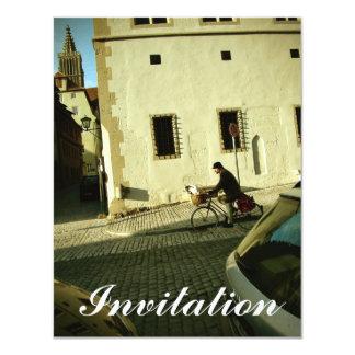 Montar a caballo lento de la bici con su perro invitación 10,8 x 13,9 cm