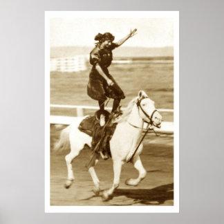Montar el caballo blanco impresiones