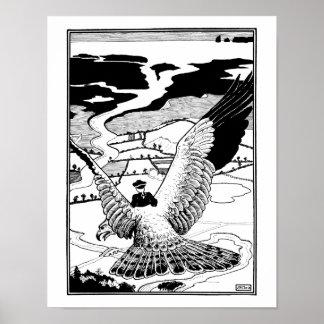 Montar un águila póster