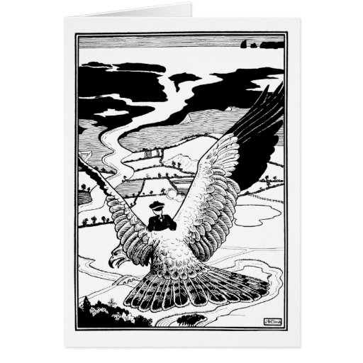 Montar un águila tarjetas