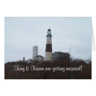 Montauk 9, Tony & Karen are getting married! Stationery Note Card