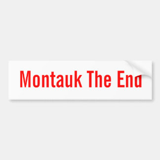 Montauk el extremo (bumpersticker clásico) etiqueta de parachoque