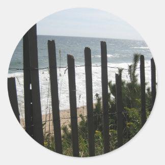 Montauk Fence Love Classic Round Sticker