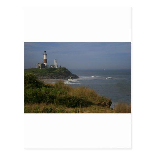 Montauk Lighthouse and Cliffs Postcard