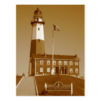 Montauk Lighthouse Love Postcard