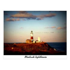 Montauk Lighthouse Postcard at Zazzle