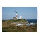 MONTAUK Lighthouse Seagull Love Greeting Card
