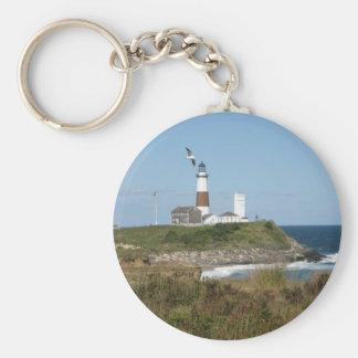 MONTAUK Lighthouse Seagull Love Keychain