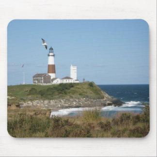 MONTAUK Lighthouse Seagull Love Mouse Pad