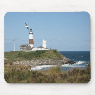 MONTAUK Lighthouse Seagull Love Mouse Pad