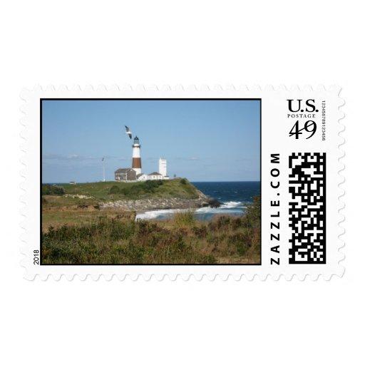 Montauk Lighthouse Seagull Love Stamp